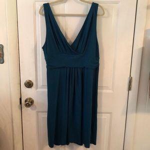 Loft Teal Flowy Dress. XL
